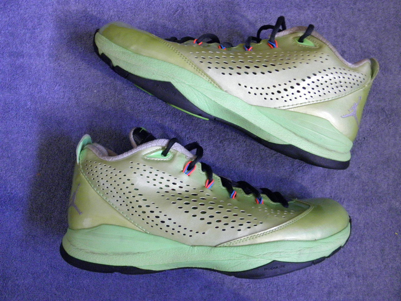Nike air jordan cp3 vii chris paul 7 electric verde taglia 11 euc vi 6 6 '