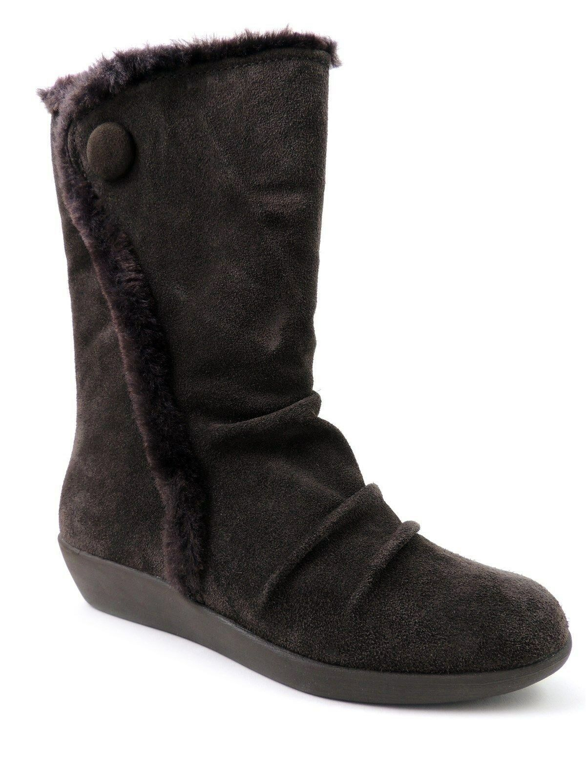 Giani Bernini Women's Sicilia Cold Weather Boots Brown Suede & Faux Fur Size 8