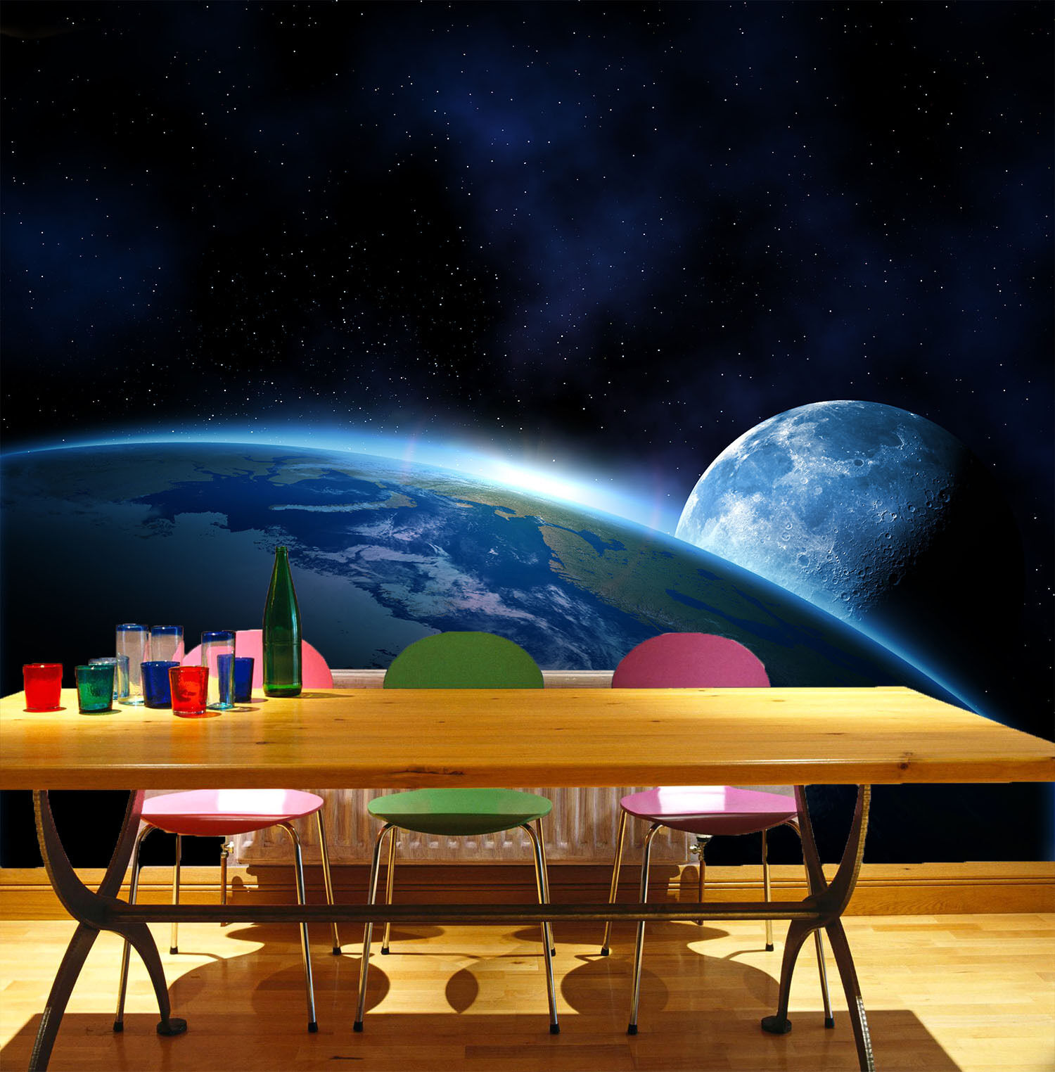 3D 3D 3D Intimate planet 19838 Wall Paper Wall Print Decal Wall Deco AJ WALLPAPER 6ff6e1