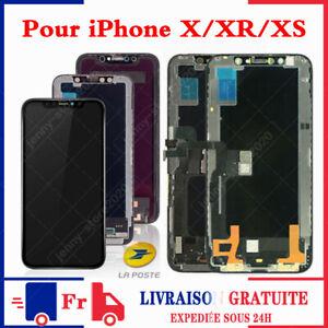 ÉCRAN OLED POUR iPhone 11/ X/ XS/ XS MAX/ XR LCD VITRE TACTILE SUR CHASSIS