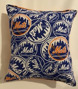 Mets Pillow NY Mets New York Mets MLB Pillow Handmade in USA Met Baseball Pillow