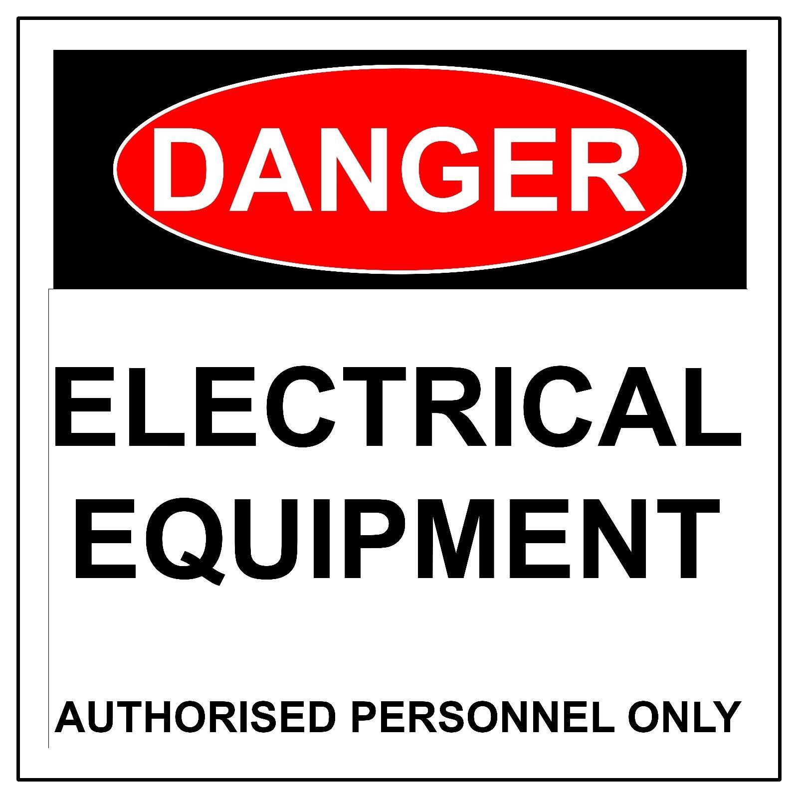 Danger & matériel électrique signe, métal/aluminium Health & Danger Safety UV Imprimé Signes ae45b2