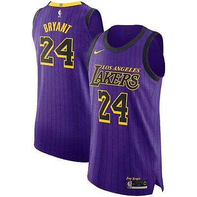 New 2018 Nike NBA Los Angeles Lakers Kobe Bryant 24 City Edition ...