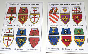 24 custom stickers knights of the round table set 1 2 lego torso size ebay - Knights of the round table lego ...