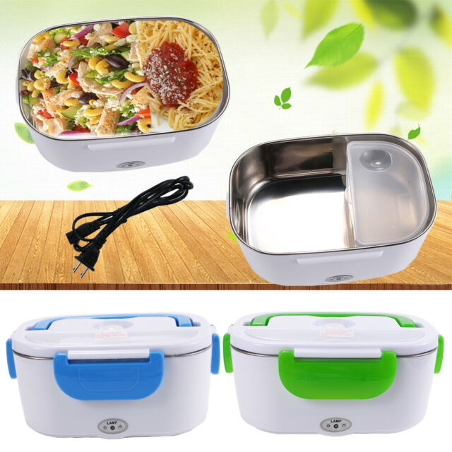 Portable Electric Lunch Box Stainless Steel Food Heater Warmer For ...