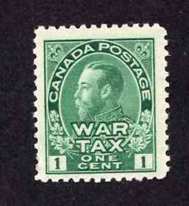 Canada-MR1-1-Cent-Green-King-George-V-Admiral-Issue-War-Tax-Issue-MNH