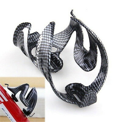 Cycling Bicycle Outdoor Carbon Fiber Water Bottle Drinks Holder Cages Rack  IG