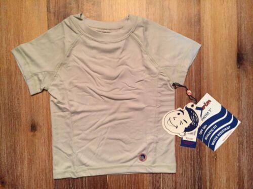 Toddler Boy Solid Rash Guard UPF 50 Gray Short Sleeve NEW 2T 3T 4T Blue White