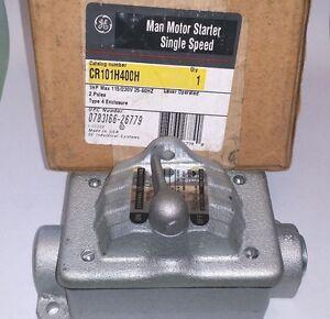 Ge Cr101h400h Manual Motor Starter Single Speed Nema 4 New In Box