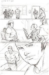 G.I. Joe #11 p 20 ORIGINAL Pencil Art Steve Kurth DUKE Roadblock IDW