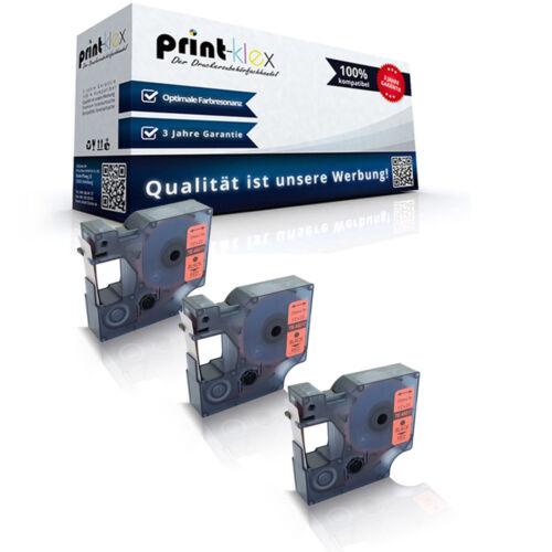 Easy Print Serie 3x Printer Schriftbänder für Dymo 45017 Beschriftungsband 12mm