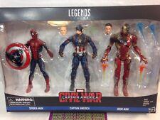 "Marvel Legends Captain America: Civil War 6"" Figure 3-Pack IRON MAN SPIDER-MAN"