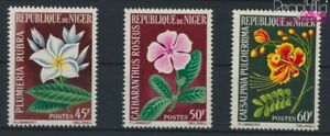 complete Issue 9278723 Niger 91-93 Unmounted Mint / Never Hinged 1965 Flower