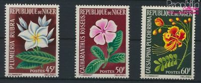 9278723 Long Performance Life complete Issue Unmounted Mint / Never Hinged 1965 Flower Motivated Niger 91-93