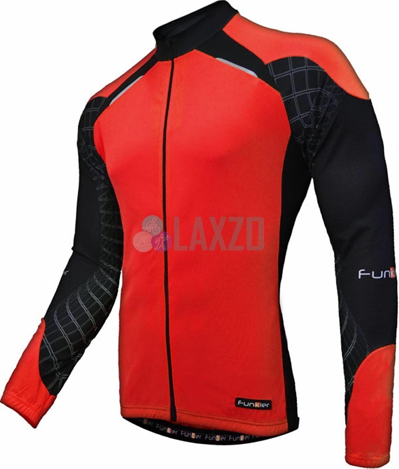Funkier Fuerza J 730K 1 LW Niño Manga Larga Jersey en Rojo Negro Pequeño (Edad 8