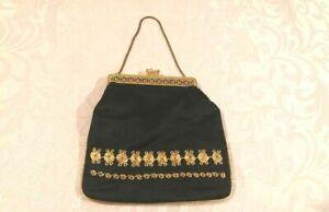VTG Israel 50's HaMeshakem Yemenite Hand Embroidery Maskit Evening Kelly Handbag