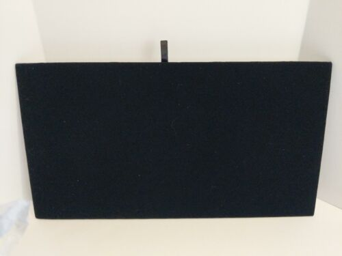 """Details about  /Black Velvet Chain Jewelry Display Board Tray Insert 14 1//8/"""" x 7 5//8/"""""""