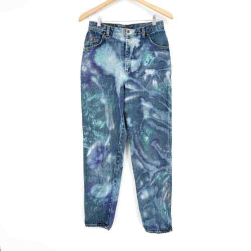 FUNEY Womens Casual Denim Hot Shorts Tie Dye Washed Splash Ink Print Roll Up Raw Hem Ripped Jeans with Pockets