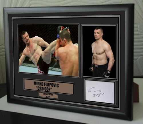 "Marko Flipovic UFC canvas tribute signed Limited Edition ""Great Gift """