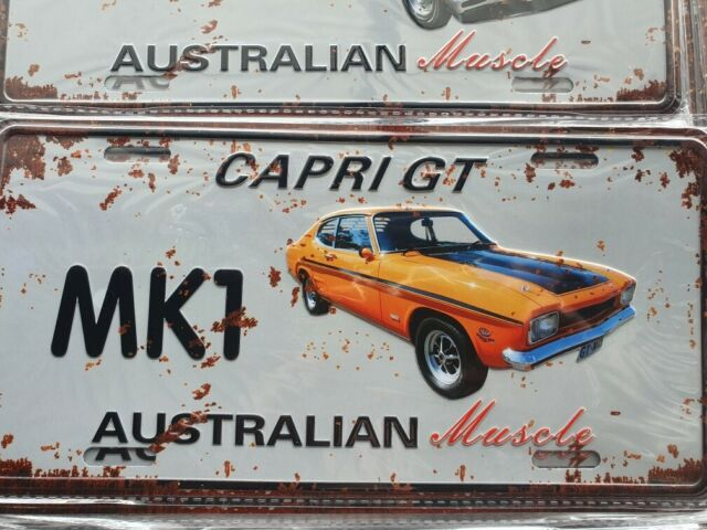 MK1 CAPRI GT FORD Novelty Car Number Plate Style 3D Tin Metal Sign NEW Man Cave