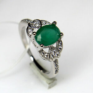 Green Onyx Faceted Oval Gemstone 925 Sterling Silver Women Designer Ring