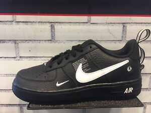 sports shoes 2a5d3 5304a Details about NIKE AIR FORCE 1 UTILITY LOW Black White Tour Yellow Kids TD  PS GS Men Sz 4C-13