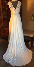 Gloria Vanderbilt size 10 Empire Waist Wedding Dress Slip Pearls 90's Cosplay