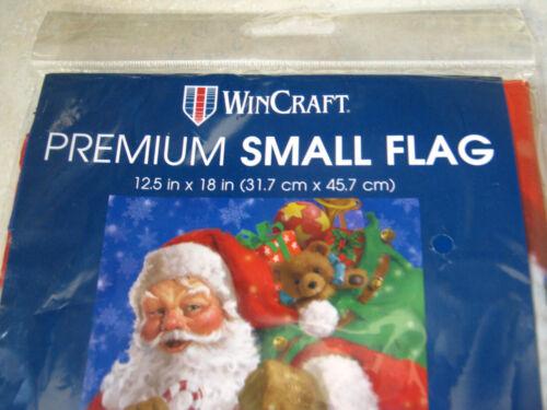 "1 WinCraft Christmas Santa with Bag of Toys Small Garden Flag 12.5/"" x 18/"" Winter"