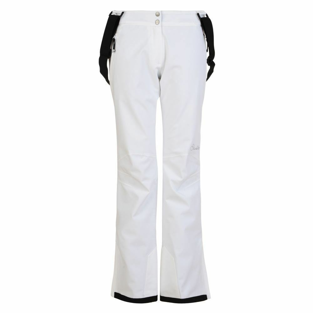 DARE 2B STAND FOR II SKI PANT SALOPETTES WHITE 20,000 RATING SLIM LEG SIZE 10