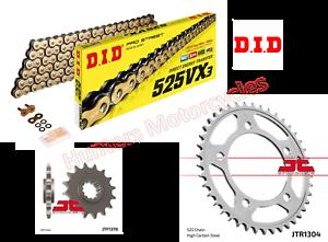 Honda CBF600 (2006) DID Gold X-Ring Chain and JT Sprockets Kit Set
