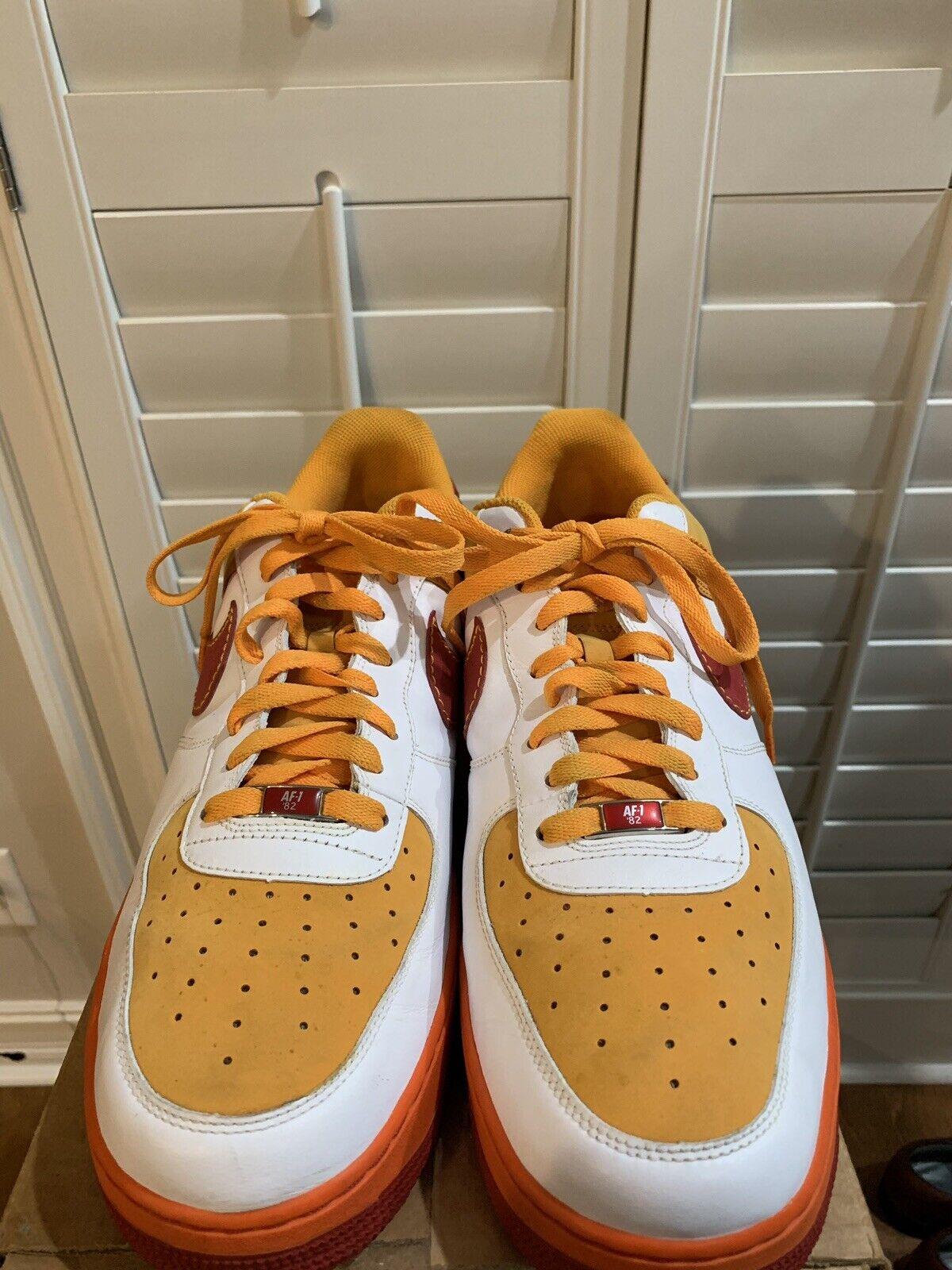 Nike AF -1 {65533;65533;;6553307 Vit Vit Vit Varesity röd orange män livräddare 65533;oss;s 315122 -161 Storlek 14  Njut av att spara 30-50% rabatt