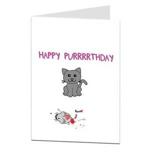 Details about Rude birthday greetings card funny offensive humour cheeky  joke cat pets