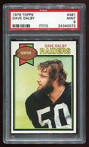 1979-Topps-481-Dave-Dalby-PSA-9-Oakland-Raiders