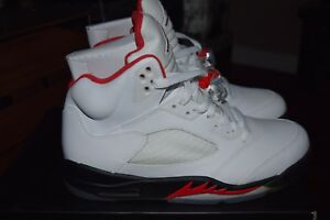 online store 5eb72 1eaf3 Details about Nike Air Jordan 5 Retro 'Fire Red' 2013 136027 100 Size 9.5