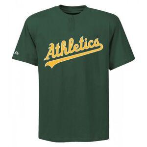 Men-039-s-Oakland-Athletics-Majestic-Cool-Base-2-Button-MLB-Replica-Jersey-Shirt