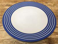 Denby Intro Blue Stripe Cobalt Royal 1 Salad Plate White Bands Langley England