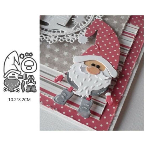 Christmas Santa Claus Metal Cutting Die Embossing Stencil Scrapbook Making Decor
