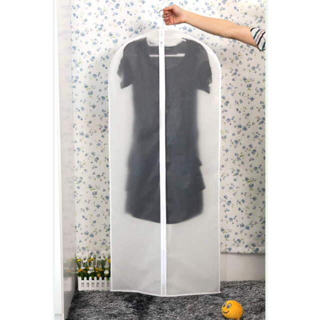 Coat Clothes Garment Suit Cover Bags Dustproof Hanger Storage Protector FE