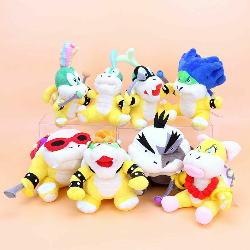 SUPER MARIO - SET 8 PELUCHES   KOOPALINGS   8 PLUSH TOYS SET 20cm