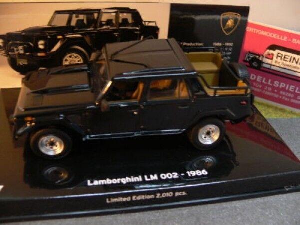 1  43 MINICHAMPS Lamborghini LM 002 1986 noir  grandes marques vendent pas cher
