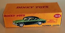 Dinky 165 Humber Hawk Empty Repro Box Only