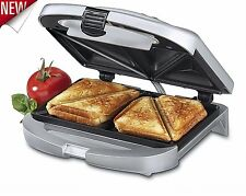 Grill Sandwich Maker Dual Electric Kitchen Toaster Breakfast Nonstick Panini NEW