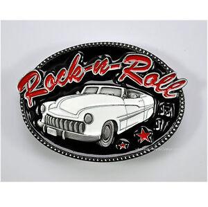 classic 50s Vintage Car Auto Hot Rod Lowrider Gürtelschnalle Belt Buckle *267