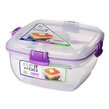 Sistema Klip It Chill It To Go 1.3L Lunch Box Purple Clips Lunch Picnic Salad