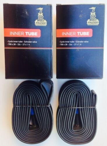 2 x Raleigh Road Bike Inner Tubes 27 x 1 1//4  With Schrader Valves