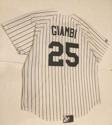 Baseball & Softball Vintage New York Yankees Jason Giambi Trikot Nadelstreifen Authentisch FöRderung Der Produktion Von KöRperflüSsigkeit Und Speichel Sport