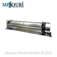 12 Volt DC Large Crossflow Cooling Fan - Dump Load for Wind and Solar Panels