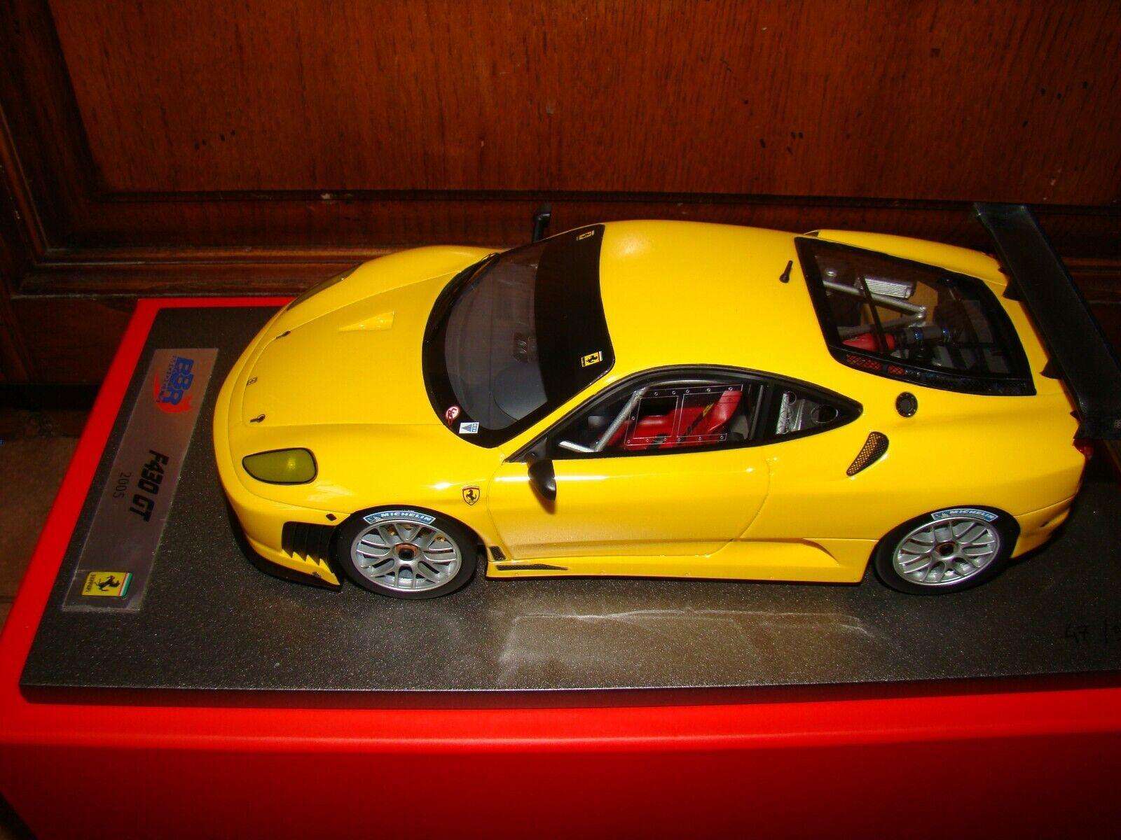 FERRARI F430  GT  2005  giallo MODENA  BBR1 18 EME LIMITED EDITION  SUPERBE RARE