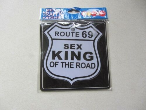 metal Route 69 sex king Funny warning signs with  suction cup