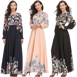 Women-Floral-Long-Cocktail-Muslim-Maxi-Dress-Evening-Party-Dresses-Islamic-Abaya